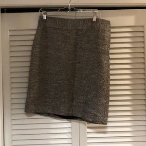 Glitter tweed pencil skirt